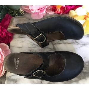 Dansko Martina Leather Mules Clogs Slip On Shoes